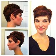 Bouncy Pixie Haircuts Side Front And Back View